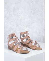 Forever 21 - Multicolor Leather Caged Wedges - Lyst