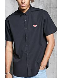 Forever 21 | Black Watermelon Patch Shirt for Men | Lyst