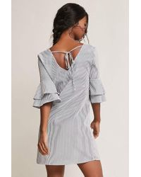 Forever 21 - Multicolor Pinstripe Tiered Sleeve Dress - Lyst