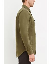Forever 21 - Natural Classic Cotton Shirt for Men - Lyst