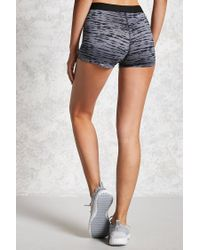Forever 21 - Gray Active Stretch-knit Shorts - Lyst
