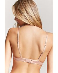 Forever 21 - Natural Sheer Mesh Underwire Bra - Lyst