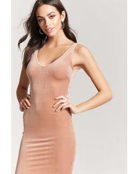 Forever 21 - Multicolor Women's Velvet Tank Dress - Lyst