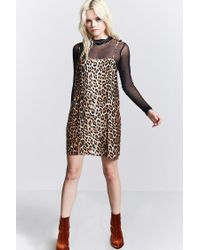 Forever 21 - Black Leopard Print Cami Dress - Lyst