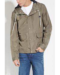 Forever 21 - Green Zip-up Hooded Windbreaker for Men - Lyst