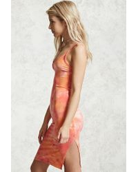 Forever 21 | Orange Tie-dye Cami Dress | Lyst