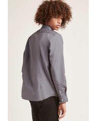 Forever 21 - Gray 's Cotton-blend Slim-fit Shirt for Men - Lyst