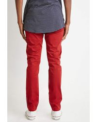 Forever 21 | Red Classic Twill Pants for Men | Lyst