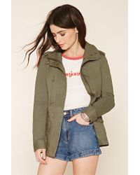 Forever 21 - Green Classic Utility Jacket - Lyst