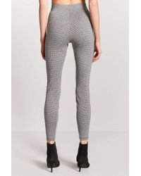 Forever 21 | Gray High-rise Houndstooth Pants | Lyst