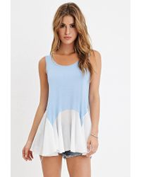 Forever 21 | Blue Heathered Combo Tunic You've Been Added To The Waitlist | Lyst
