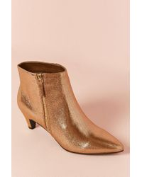 Forever 21 - Metallic Faux Leather Ankle Boots - Lyst