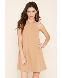 Forever 21 - Brown A-line Mini Dress - Lyst