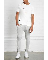 Forever 21 - Gray Drop Crotch Joggers for Men - Lyst