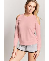 Forever 21 - Pink Open-shoulder Pyjama Top - Lyst