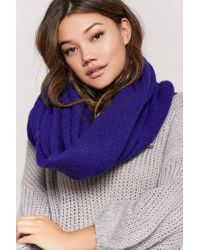 Forever 21 | Blue Oversized Knit Scarf | Lyst