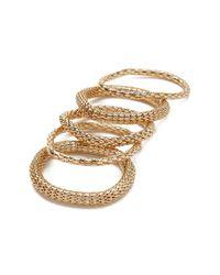 Forever 21 - Metallic Tube Chain Bracelet Set - Lyst