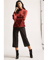 Forever 21 - Red Satin Bell-sleeve Top - Lyst