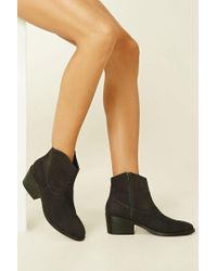 Forever 21 - Green Faux Suede Ankle Booties - Lyst
