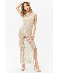Forever 21 - Sheer Metallic Maxi Dress - Lyst