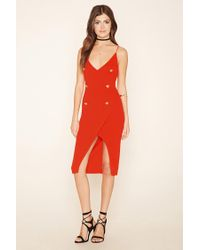 Forever 21 - Red Rare London Button Cami Dress - Lyst