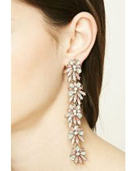 Forever 21 - Metallic Scalloped Drop Earrings - Lyst