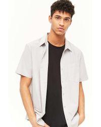 Forever 21 Gray 's Lightweight Button-front Shirt for men