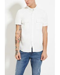 Forever 21 - Natural Pocket-front Shirt for Men - Lyst