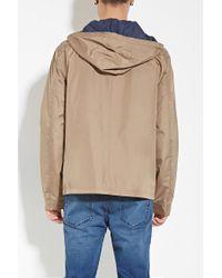 Forever 21 - Blue Zip-up Hooded Windbreaker for Men - Lyst
