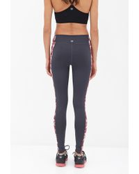 Forever 21 - Red Active Prism Paneled Workout Leggings - Lyst