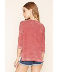 Forever 21 - Pink Burnout High-low Top - Lyst