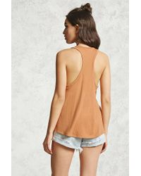 Forever 21 - Multicolor Ribbed Trapeze-hem Tank - Lyst