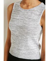 Forever 21 | Black Marled Knit Sweater Tank | Lyst