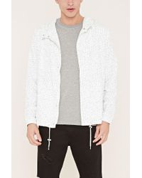 Forever 21 - Natural Hooded Abstract Print Jacket for Men - Lyst