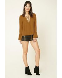 Forever 21 - Multicolor Contemporary Lace-up Top - Lyst