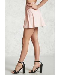 Forever 21 - Multicolor Faux Suede Mini Skirt - Lyst