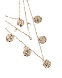 Forever 21 - Metallic Layered Coin Necklace - Lyst