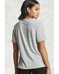 Forever 21 - Gray World Tour Graphic Choker Tee - Lyst