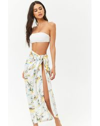 Forever 21 Women s Beach Print Sarong Swim Cover-up - Lyst 33d7e34a5