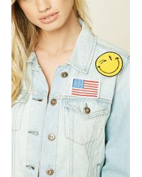 Forever 21 - Blue Happy Face Patch Pin Set - Lyst