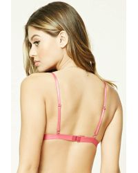 Forever 21 - Pink Butterfly Mesh Bralette - Lyst