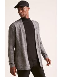 Forever 21 - Gray 's Open-front Cardigan for Men - Lyst