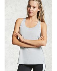 Forever 21 - Gray Active T-back Tank - Lyst
