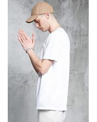 Forever 21 - White Slub Knit Pocket Tee for Men - Lyst