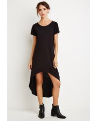 Forever 21 - Black Curved-hem T-shirt Dress - Lyst