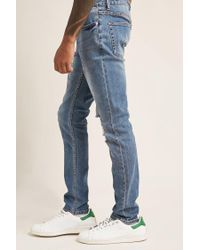 Forever 21 - Blue 's Distressed Skinny Jeans for Men - Lyst