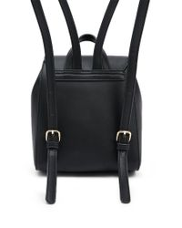 Forever 21 - Black Faux Leather Structured Backpack - Lyst