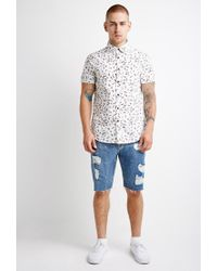 Forever 21 - White Abstract Print Shirt for Men - Lyst