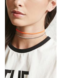 Forever 21 - Multicolor Neon Chain Choker Set - Lyst