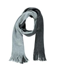 Forever 21 | Gray Colorblock Fringe Scarf | Lyst